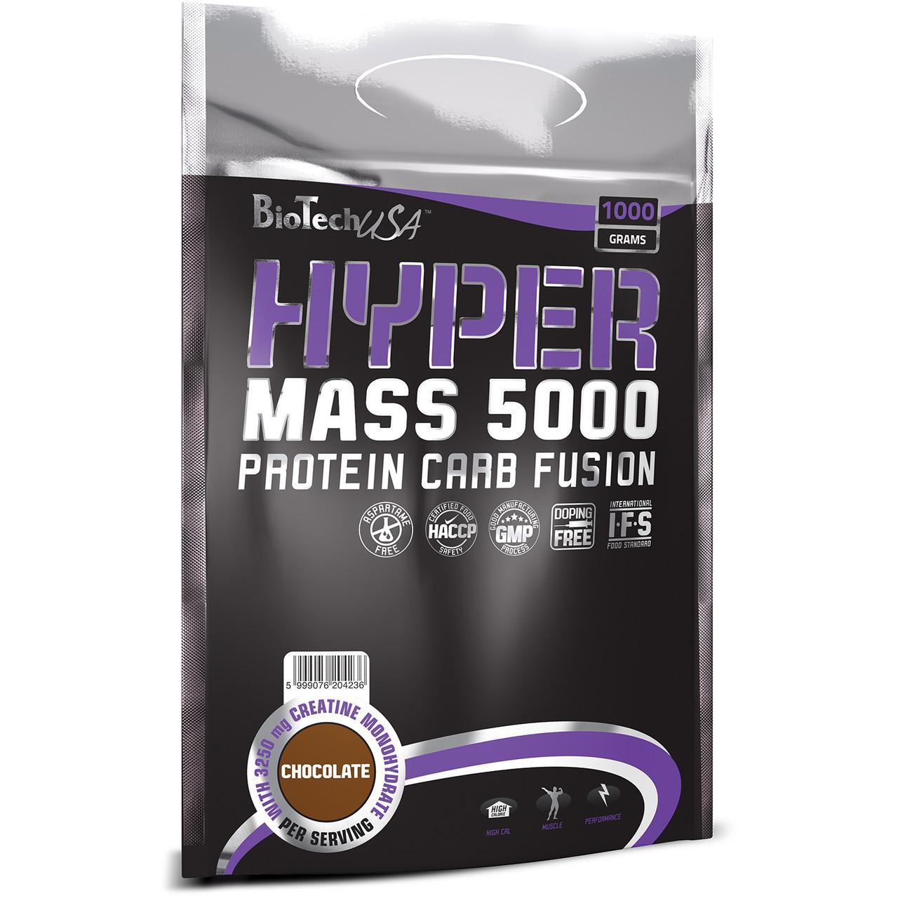 Гейнер высокобелковый BioTech Hyper Mass 5000 (1 kg)