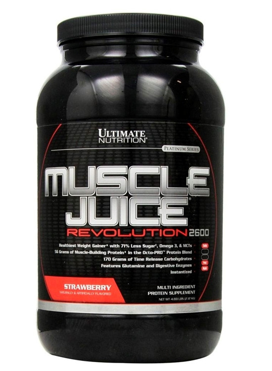 Гейнер высокобелковый Ultimate Nutrition Muscle JUICE Revolution (2,1 kg)