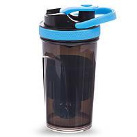Шейкер для спортивного питания TOP SHAKER BOTTLE (пластик, 500мл, цвета в ассортименте)