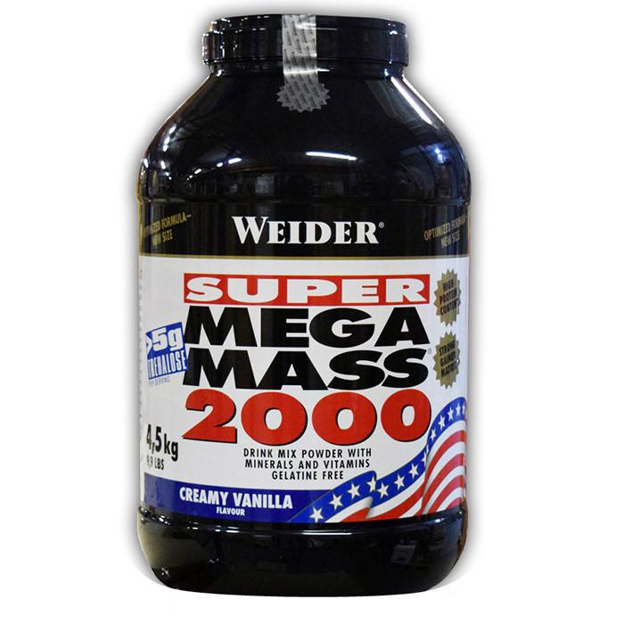 Гейнер высокобелковый Weider Mega Mass 2000 4,5 kg