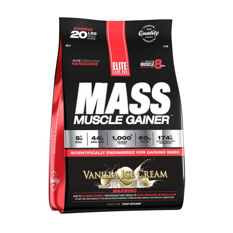 Високобілковий Гейнер ELITE Labs Muscle Mass Gainer 9,07 kg