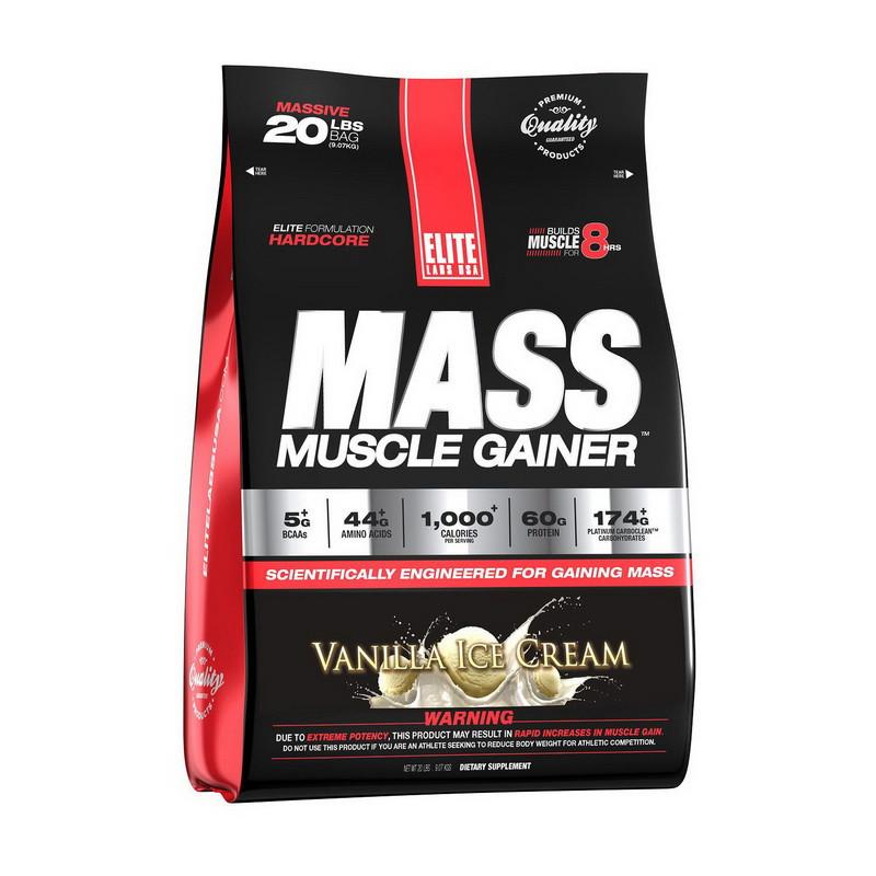 Високобілковий Гейнер ELITE Labs Muscle Mass Gainer 2,3 kg