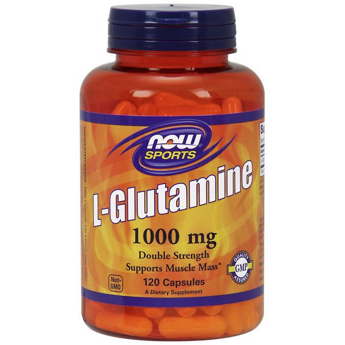 Глютамин NOW L-Glutamine 1000 mg 120 caps