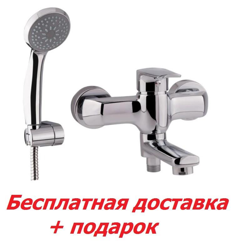 Однорычажный латунный смеситель для ванны цвет хром Q-Tap Tenso CRM 006AN