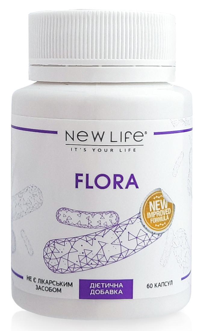 Новая Жизнь / Flora (Флора) капсулы - нормальная микрофлора кишечника, пищеварение, иммунитет 60
