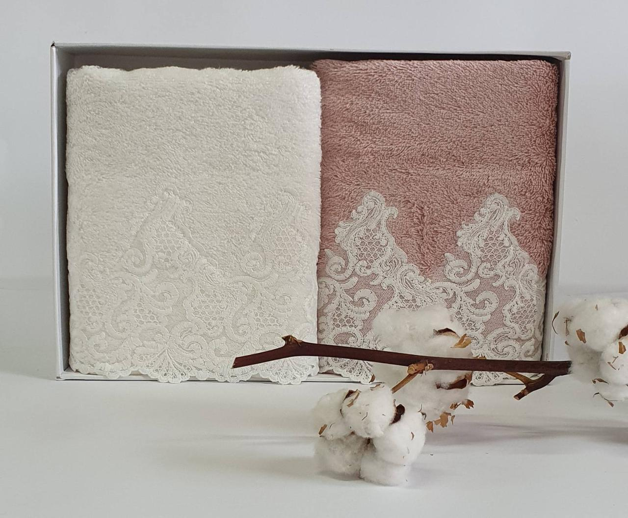Рушники Maison d'or 2шт Jasmin Ecru Rose