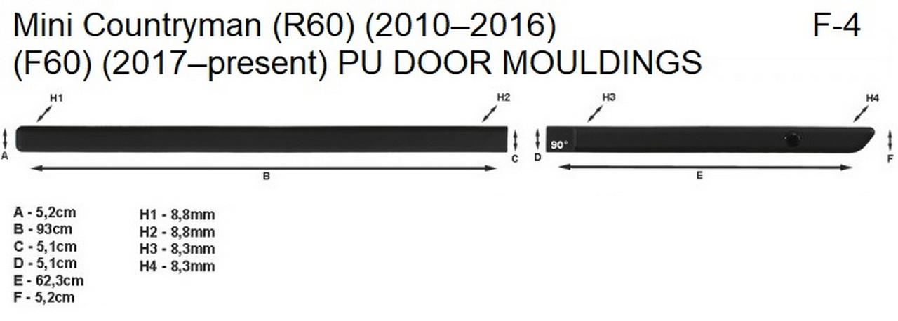 Молдинги на двері для Mini CountryMan R60 2010-2016, фото 6