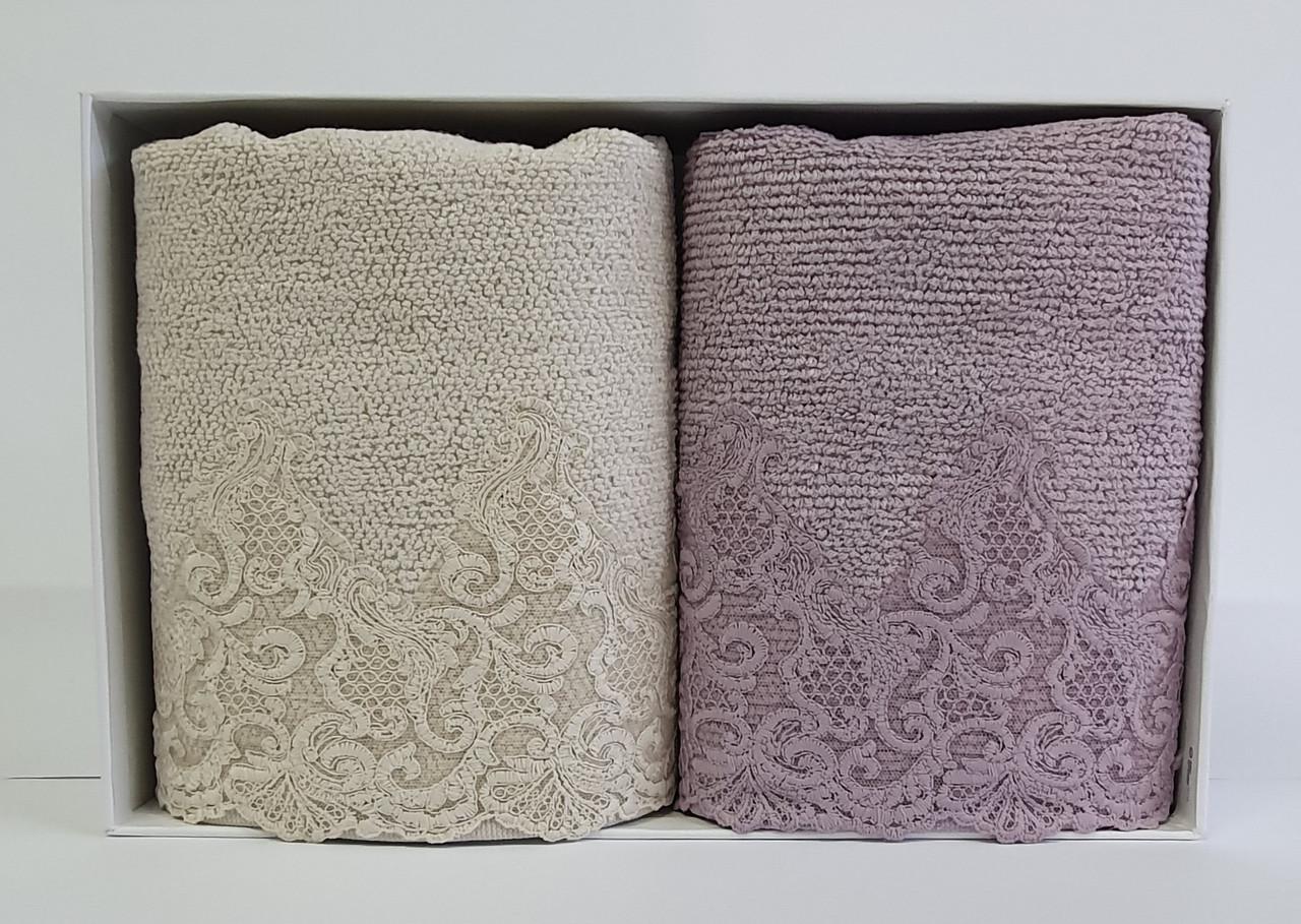 Полотенца Maison D'or 2шт New Trendy Jasmine Beige Lilac