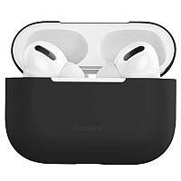 Чехол Baseus для Apple AirPods Pro Super Thin Silica Gel, Black (WIAPPOD-ABZ01)