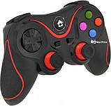 Беспроводной Bluetooth джойстик Gen Game V8 Black/Red (7211), фото 3