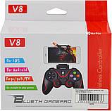 Беспроводной Bluetooth джойстик Gen Game V8 Black/Red (7211), фото 6