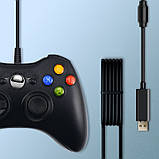Геймпад Data Frog ZSL03 Black USB провідний геймпад для ПК і XBOX для Windows, фото 2
