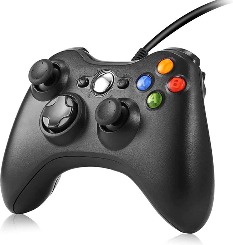 Ігровий маніпулятор Data Frog PC ZSL03 Black USB провідний геймпад для ПК Windows