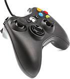 Ігровий маніпулятор Data Frog PC ZSL03 Black USB провідний геймпад для ПК Windows, фото 4