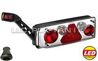 Фонарь задний универсальный ECOSTAR III диодно-ламповый с дополнительным диодным с дополнительным габаритным фонарем и кабелем левая сторона M711425