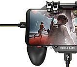 Sundy Беспроводной геймпад триггер для смартфонов с вентилятором Union PUBG Mobile AK77, фото 4