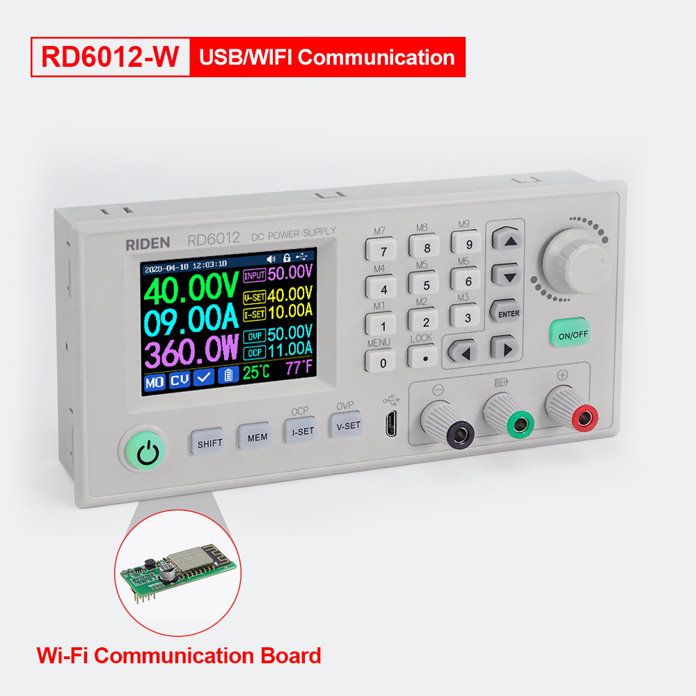 RD6012-W 0-60V 0-12A (720 Ватт) Цифровой Лабораторный блок модуль питания RIDEN