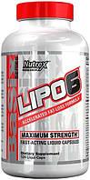 Nutrex Lipo-6 120 liqui-caps комплексный жиросжигатель для быстрого похудения