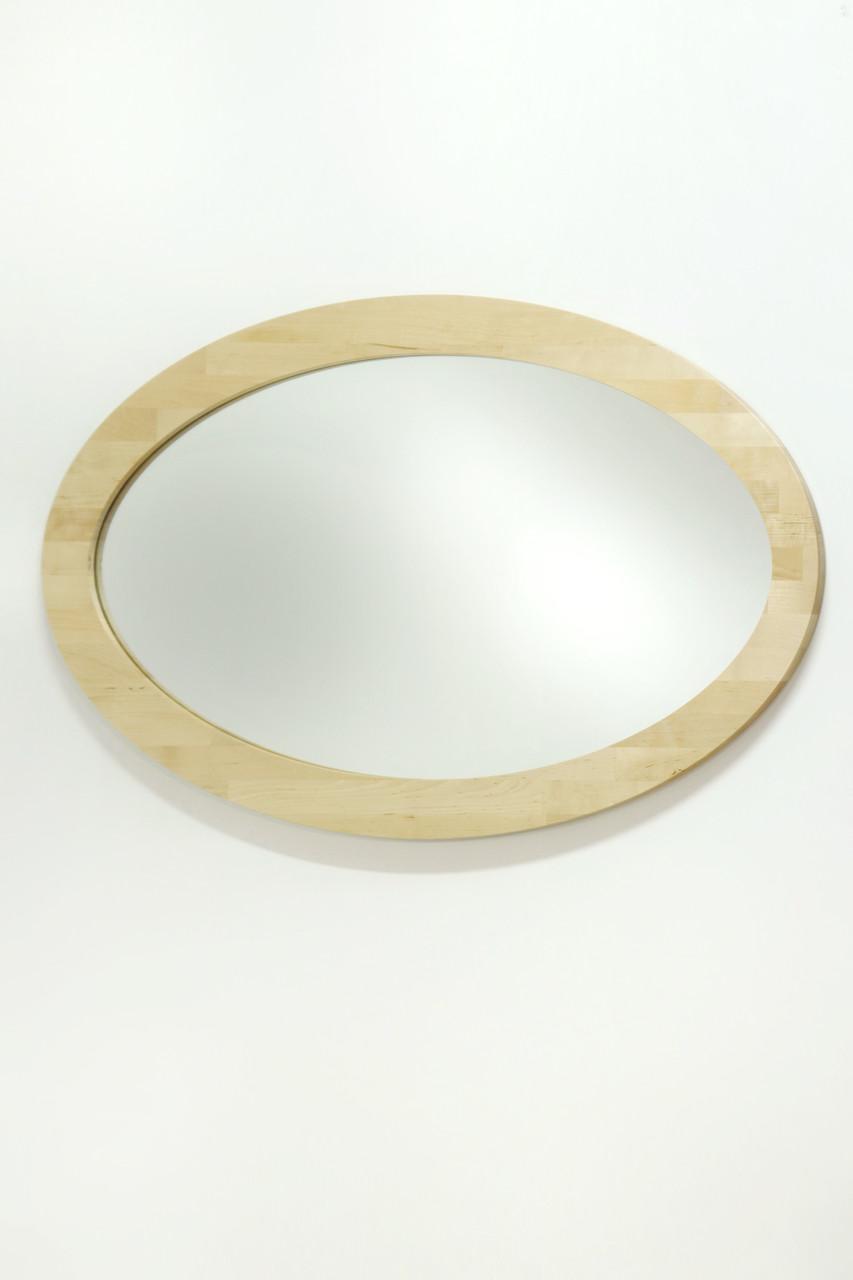 Дзеркало овальне в рамі з дерева 027