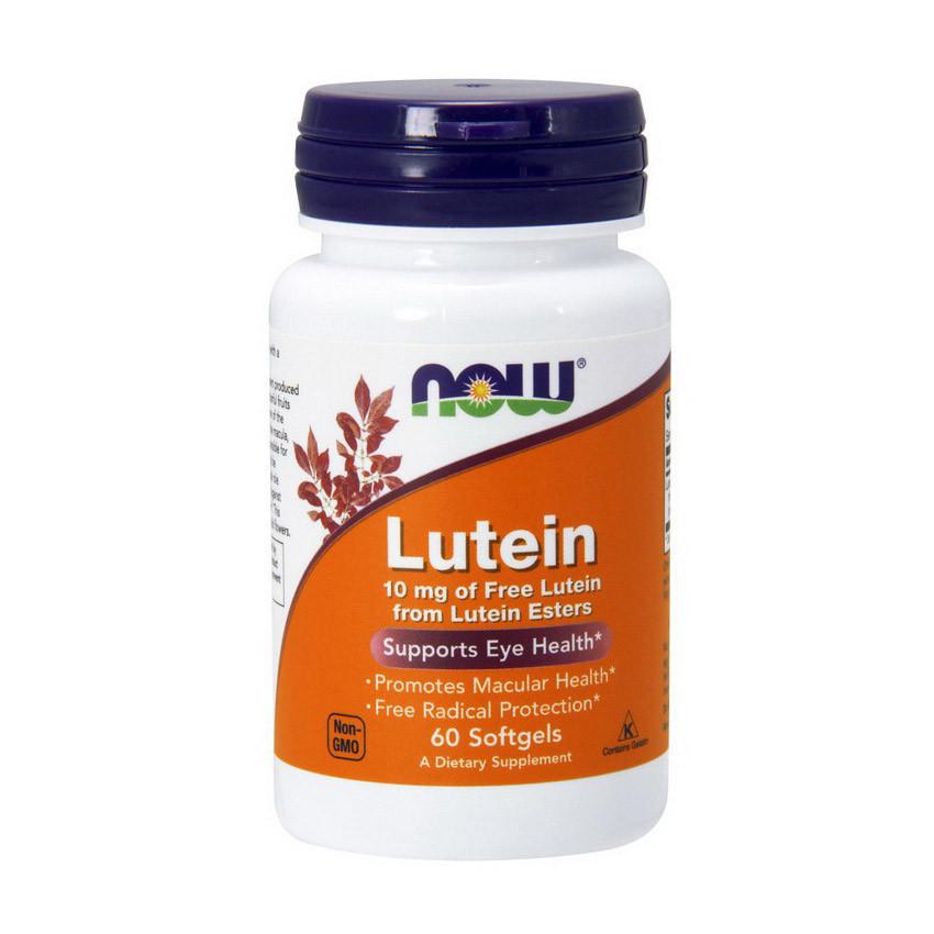 Лютеин NOW Lutein 10 mg (60 softgels)
