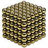 Неокуб | Подарок игрушка | Магнитный конструктор NeoCub Gold 5 мм, фото 2