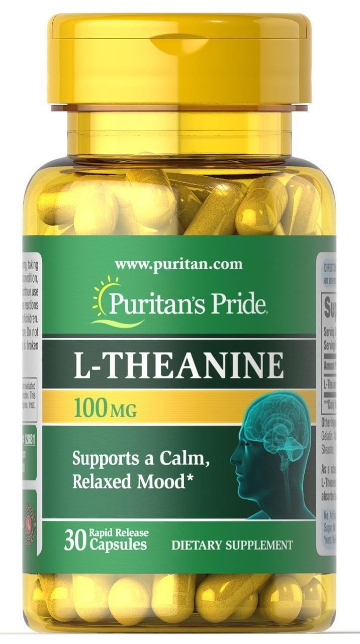 L-Теанин Puritan's Pride L-Theanine 100 mg 30 caps