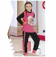 Детские и подростковые пижамы хлопковые для девочек 2237