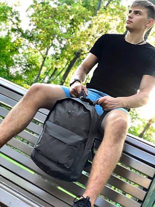Рюкзак городской Мужской | Женский | Детский, для ноутбука Nike (Найк) темно - серый спортивный, фото 3
