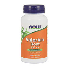 Экстракт валерьяны NOW Valerian Root 500 mg (100 caps)