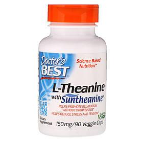 Для расслабления Doctor's BEST L-Theanine 150 mg (90 veg caps)
