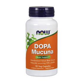 Бархатные бобы NOW DOPA Mucuna 90 veg caps