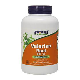 Корінь валеріани NOW Valerian Root 500 mg 250 veg caps