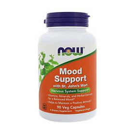 Поддержка нервной системы NOW Mood Support with St. John's Wort 90 vcaps