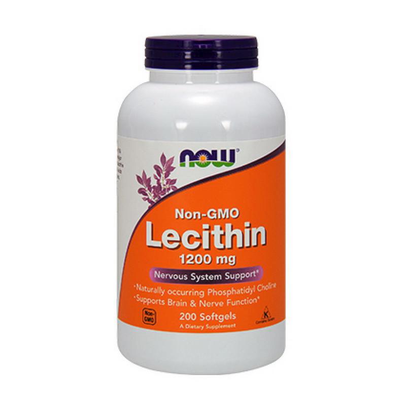 Лецитин соєвий NOW Lecithin 1200 mg 200 softgels