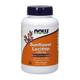 Лецитин из подсолнечника NOW Sunflower Lecithin 1200 mg 100 softgels