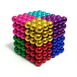 Неодимовый куб | Цветная игрушка | Магнитный конструктор NeoCub Rainbow 5 мм