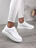 Женские кроссовки Nike белые эко кожа, фото 2
