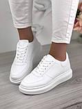 Женские кроссовки Nike белые эко кожа, фото 4