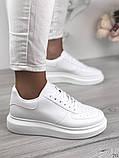 Женские кроссовки Nike белые эко кожа, фото 3