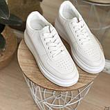 Женские кроссовки Nike белые эко кожа, фото 5