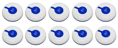 Фото: кнопки вызова персонала RECS R-300 Blue - 10 штук - комплект системы вызова RECS №103