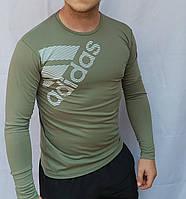 Чоловічий спортивний облягаючий батник весна-осінь оптом