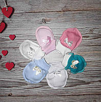 Царапки для новорожденных в роддом хлопок нецарапки антицарапки голубой