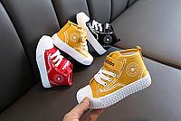 Дитячі кеди з неоном / Осенняя повседневная детская обувь, дышащая детская обувь, светящаяся обувь