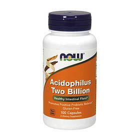 Здоровая кишечная микрофлора NOW Acidophilus Two Billion 100 caps