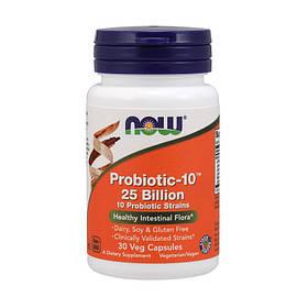 Пробиотики NOW Probiotic-10 25 Billion 30 veg caps