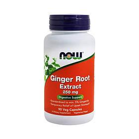 Экстракт имбиря NOW Ginger Root Extract 90 veg caps
