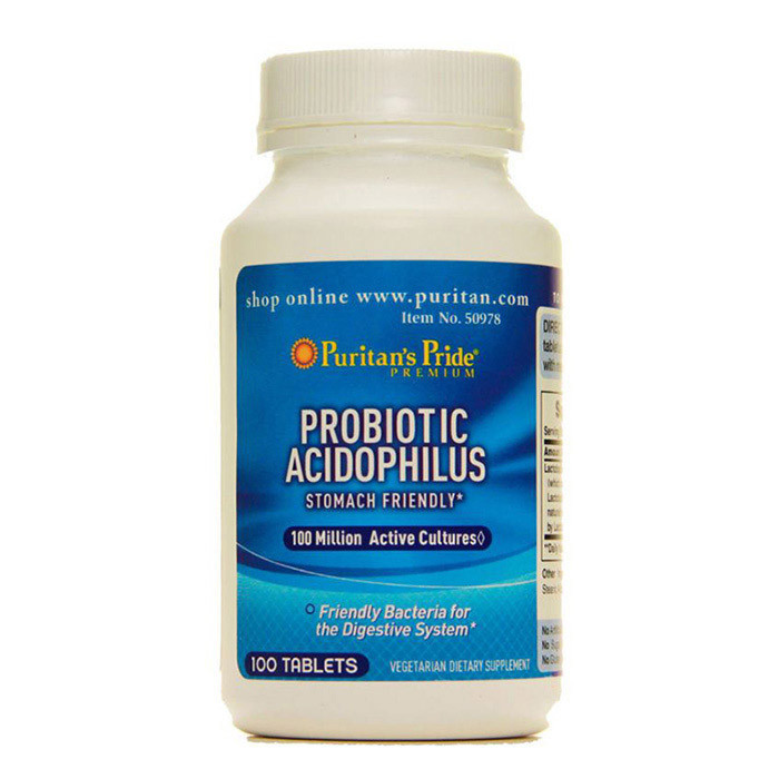 Ацидофілус Puritan's Pride Probiotic Acidophilus 100 tabs