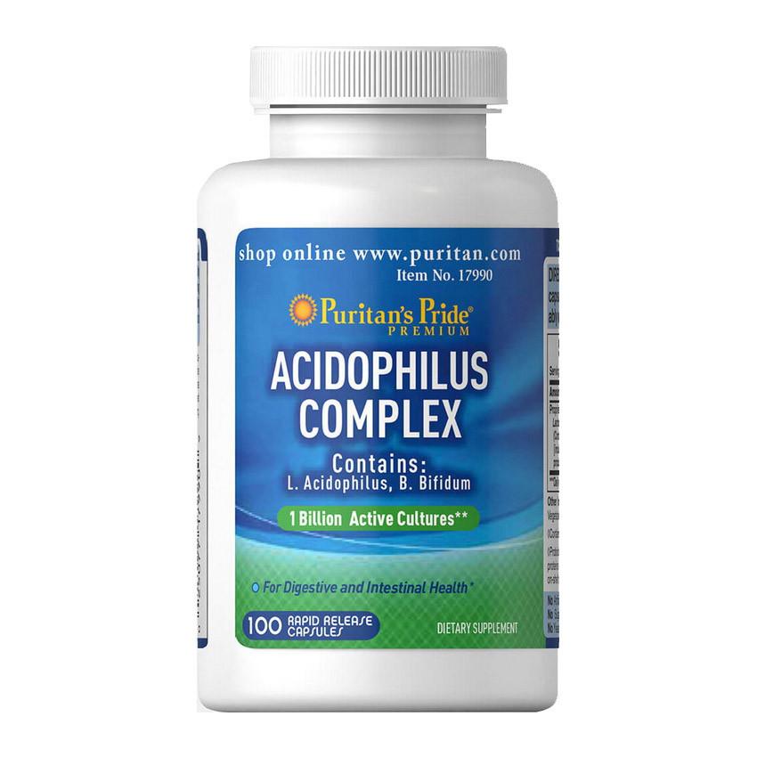 Пробиотики Puritan's Pride Probiotic Acidophilus Complex 100 caps