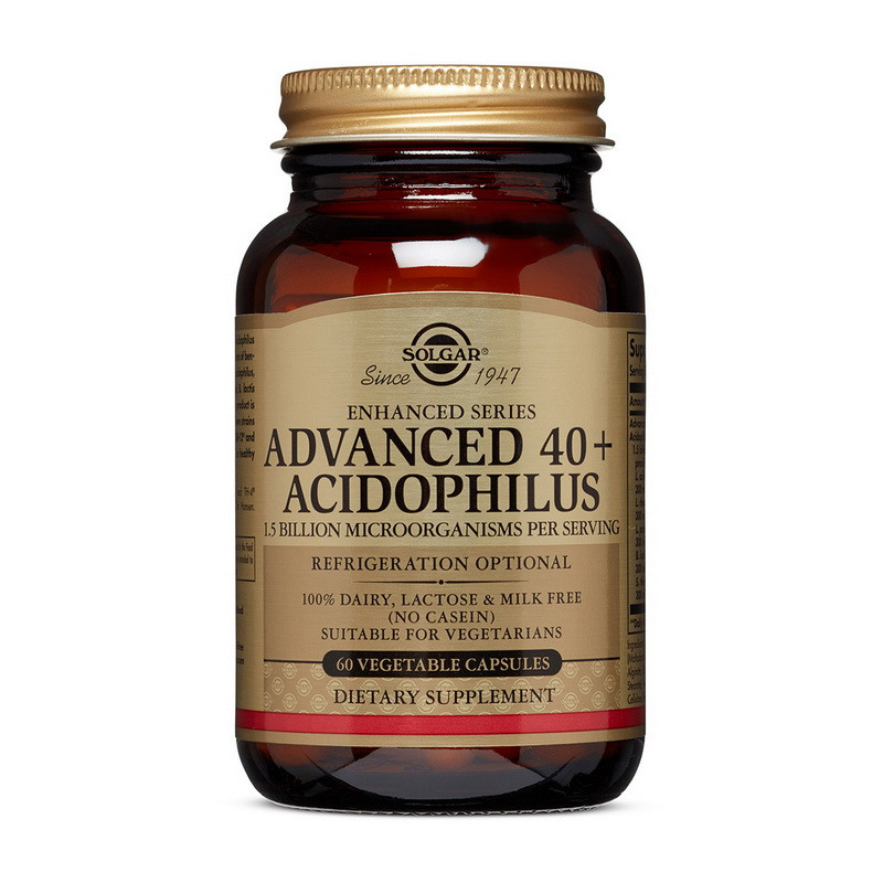 Пробиотики Solgar Advanced 40+ Acidophilus 60 veg caps